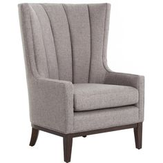 Alistair Melbourne Chess Pewter Wing Chair ($828) ❤ liked on Polyvore featuring home, furniture, chairs, accent chairs, wing-back chair, wing back chairs, peacock furniture, wing chair and peacock chair