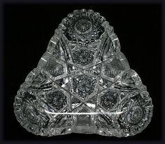 American Brilliant-cut, Antique Glass, Signed Hoare Olive Dish; 1910's...  <3<3<3