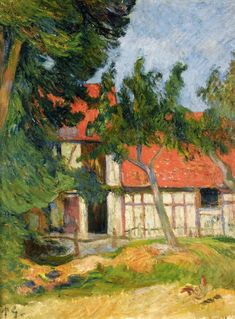 eugène henri paul gauguin(1848-1903), stable near dieppe, 1885. oil on canvas, 35 x 27 cm. private collection http://www.the-athenaeum.org/art/detail.php?ID=2012