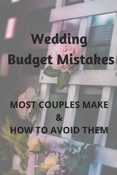 We'd all like to focus on the fun stuff, like decorations and dresses, but whether or not you are prepared with a detailed budget can make-or-break your wedding.here's a wedding budget breakdown and the 5 most common wedding budget mistakes to avoid. We've learned the hard way so you don't have to! #weddinginspiration