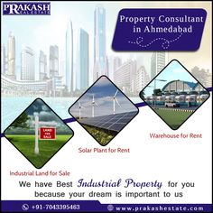 Looking For Industrial Property Consultant in Ahmedabad?  Prakash Estate is one of prime Property Consultant in Ahmedabad. It provides all industrial property like Industrial Land, Warehouse, Industrial Shed, agricultural land and Solar Power Plant for Rent and Sale.  http://www.prakashestate.com/  #PropertyConsultant #RealEstateConsultant #PrakashEstate #Ahmedabad