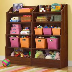 "Kids Bookcase: Kids Chocolate Bankable 60"" Bookcase in Bookcases"