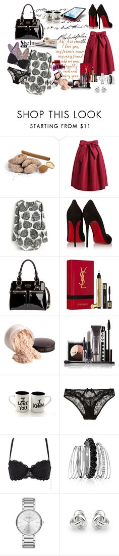 """""""I love you"""" by merima-musanovic ❤ liked on Polyvore featuring Christian Louboutin, Modalu, Yves Saint Laurent, Chanel, Laura Mercier, LORAC, L'Agent By Agent Provocateur, Avenue, Marc by Marc Jacobs and Georgini"""