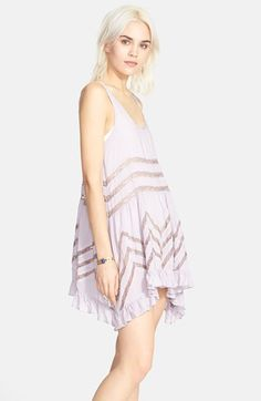 Free People Lace Trim Trapeze Slipdress | Nordstrom