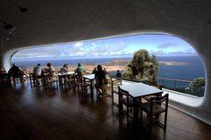 Place: Café Mirador, Mirador del Rio, Lanzarote / Canary Islands, Spain. Photo by: Unknown