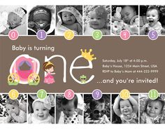 NEW - Princess Timeline FIrst Birthday Invitation