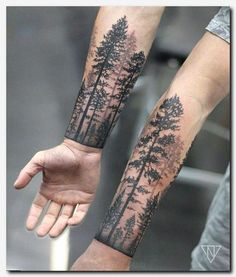 tattoo hd, cute tattoos on the shoulder, white ink tattoo art … - Flower Tattoo Designs Forest Tattoo Sleeve, Nature Tattoo Sleeve, Forest Tattoos, Best Sleeve Tattoos, Tattoo Nature, Tree Tattoo Sleeves, Dark Forest Tattoo, Half Sleeve Tattoos For Men, Tattoo Sleves