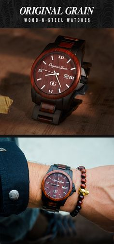 The perfect gift for him this holiday season! A Handcrafted Watch made with All-Natural Rosewood and Matte Black Steel + Free Shipping Worldwide!