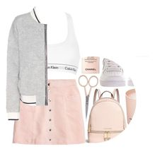 """can I not care anymore"" by maevekaterina ❤ liked on Polyvore featuring Michael Kors, Anastasia Beverly Hills, NIKE, Prada, Chanel, Calvin Klein Underwear and rag & bone"