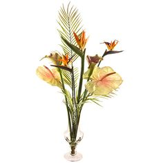 Buy Artificial Peony Tropical Flower Mix in Goblet Vase Online at johnlewis.com