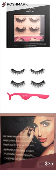 """046cfde414c Lily Lashes """"Perfect Pair"""" Kit Unopened, contains lash styles """"Miami"""" &"""
