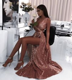 2019 Charming Sexy Sequin Sparkly Simple Rose Gold and Black Split Fashion Popular Prom Dresses, Evening dresses Black Prom Dress 2019 Evening Dresses Sexy Prom Dress Sequin Prom Dress Prom Dress Prom Dresses 2019 Pretty Dresses, Sexy Dresses, Beautiful Dresses, Long Dresses, Quince Dresses, Glam Dresses, Casual Dresses, Sequin Evening Dresses, Sequin Dress