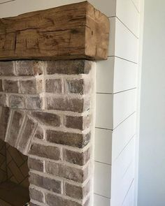 This unique small Fireplace is absolutely a powerful design .- This unique small Fireplace is absolutely a powerful design concept. This unique small Fireplace is absolutely a powerful design concept. Farmhouse Fireplace Mantels, Cottage Fireplace, Small Fireplace, Home Fireplace, Fireplace Remodel, Fireplace Design, Fireplace Ideas, White Wash Brick Fireplace, Rustic Mantle