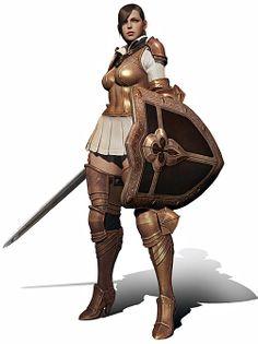 Human Female Knight.