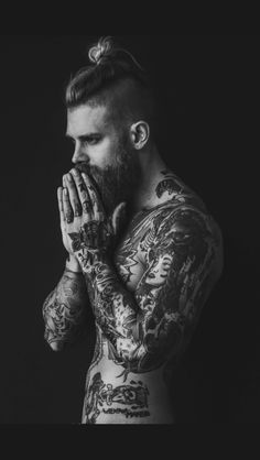 Black and white fashion tattoos blonde male model .- Schwarze und weie Mode Ttowierungen blonde mnnliche Modell Bart blonde Haare Mode Black and white fashion tattoos blonde male model beard blonde hair fashion # Male - Josh Mario John, Sexy Tattoos, Tattoos For Guys, Fashion Tattoos, Tatoos, Tattoo Guys, Sailor Tattoos, Arabic Tattoos, Tattoo Art