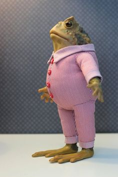 Toad in a pajamas by Tommy-Slowpoke on DeviantArt Frog House, Frog Pictures, Frog Art, Cute Frogs, Frog And Toad, Kermit, Alternative Fashion, Doll Clothes, Dinosaur Stuffed Animal