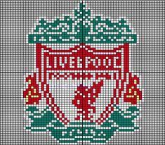 Liverpool Badge, Liverpool Bird, Ynwa Liverpool, Liverpool Football Club, Beading Patterns, Embroidery Patterns, Cross Stitch Patterns, Mittens Pattern, Crochet Blanket Patterns