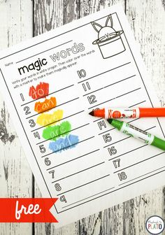 Magic Sight Words Activity for ages 5 to Kids will love practicing sight words with this simple activity. Grab a white crayon and some markers and get ready for a little magic! The activity is the perfect compliment to our best selling EDITABLE Word Wor Kindergarten Reading, Kindergarten Activities, Teaching Reading, Guided Reading, Kindergarten Sight Word Games, Reading Games, Reading Resources, Word Reading, Preschool Sight Words