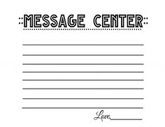 message note Free Printable Stationery, Free Printables, Free Resume, Note Cards, Sample Resume, Notes, Messages, Image, Index Cards