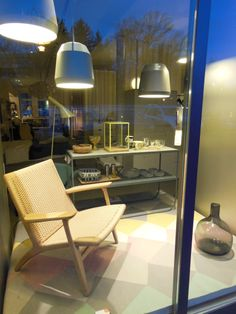 Sessel CH 25 by Hans J Wegner from Carl Hansen, Tati console by Broberg & Ridderstråle from Asplund and Mingus pendant by Cecilie Manz from Lightyears