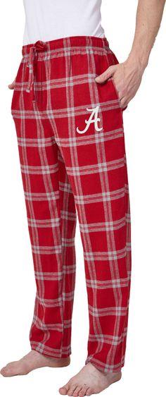 Concepts Sport Men s Alabama Crimson Tide Crimson White Homestretch Sleep  Pants d7719a63a