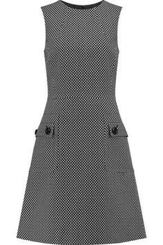 Michael Kors Woman Cotton And Wool-blend Jacquard Mini Dress Black Dress Outfits, Casual Dresses, Fashion Dresses, Dresses For Work, Stylish Summer Outfits, Mode Vintage, Mode Inspiration, Classy Dress, Work Fashion