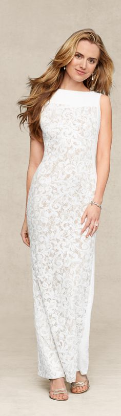 Lauren Ralph Lauren Wedding: The wedding dress that bridges old and new—a sleek silhouette paired with vintage-inspired lace.