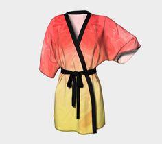 Kimono Robe Yellow Orange Ombre #artofwhere #fashion #trends