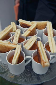 grilled cheese and tomato bisque... this would be fantastic for a fall/winter tea party