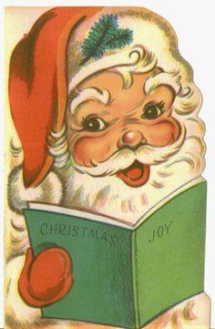 Vintage Christmas Card Santa Claus Christmas by TheVintageGreeting