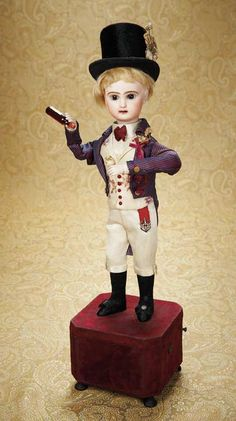 """French Bisque Automaton """"The Gentleman Wine Taster"""" by Roullet & Decamps. http://Theriaults.com"""