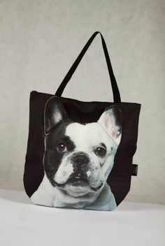 #PerfectChristmasGift 3D Bag with Face of French Bulldog Piebald. – Limitless Bags UK