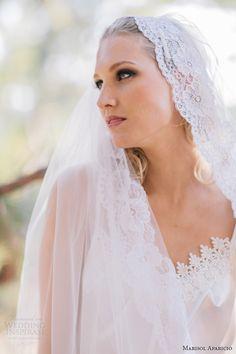 marisol aparicio bridal accessories fall 2013 lacey slip mantilla veil