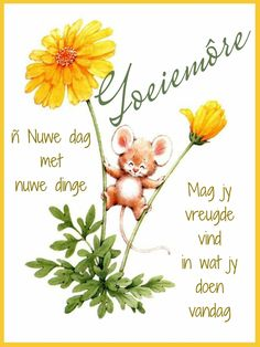 Goeie More, Afrikaans Quotes, Good Morning Messages, Mornings, Garden, Do Your Thing, Good Morning Wishes, Garten, Acre