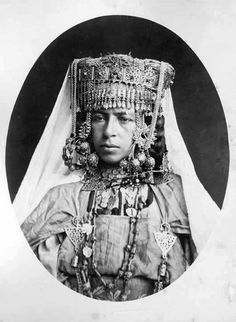 Africa | Portrait of a Ouled Nail woman. Algeria. ca. 1880. Photographer ?
