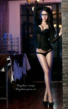 Sexy beautiful girl woman Asian model lingerie hot body slim breasts ass photography Nemon