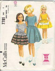 1965 Girls' Dress McCall's 7781