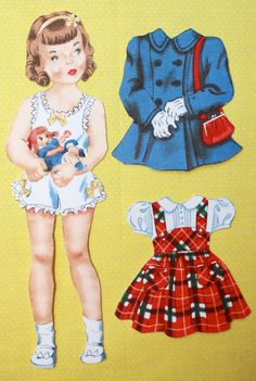 Fabric Paper Doll With Curly Hair Dress and by OffTheTableCrafts. $7.00, via Etsy.* The International Paper Doll Society Arielle Gabriel artist #QuanYin5 Twitter, Linked In QuanYin5 *