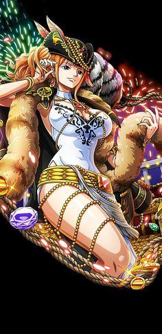 Manga Anime One Piece, One Piece Fanart, Anime Manga, Nami One Piece, One Piece World, Cartoon Icons, Cartoon Drawings, Nami Swan, Hypebeast Wallpaper