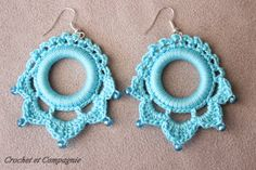 Crochet et compagnie: BO au crochet: grille et tuto... There is a free diagram for making these earrings!