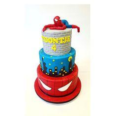 Spiderman Birthday cake Spiderman Birthday Cake, Birthdays, Party Ideas, Cakes, Style, Birthday, Stylus, Fete Ideas, Cake