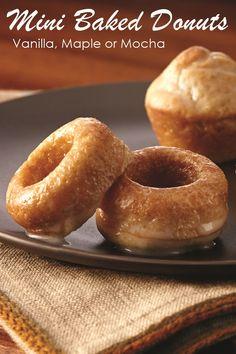 Mini Baked Donuts with Vanilla, Maple or Mocha Glaze - Easy Dairy-Free ...