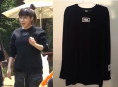 """Park Bom on """"Roommate"""" Episode 9.  Hood By Air Basic Long Sleeve Tee #Roommate #룸메이트 #ParkBom #박봄"""