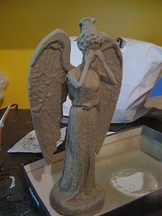 DIY: How to turn a Barbie into a Weeping Angel.