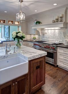 Love the marble and the sink