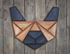 French Bulldog created by connecting geometric polygons. Made by Tomasz Ciurka