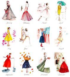 Paper Fashion- 2013 calendar, Katie Rodgers