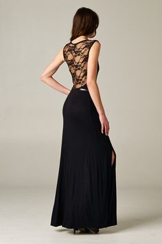 How chic is the back on this dress, so ooh la la!