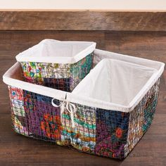 Patchwork Nesting Baskets - Set of 3 | VivaTerra