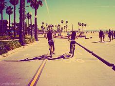 Best Friends friendship summer friends vintage trees bike ride bff best palm